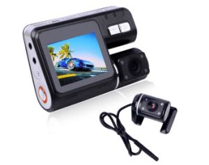 HD 720p Dual Lens Dashboard Car Vehicle Camera Video Recorder DVR Cam G-Sensor pictures & photos