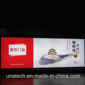 Waterproof Outdoor Flex PVC Backlit Banner Tension Advertising Media LED Unipole Light Box pictures & photos