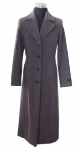 Wool Poly Black Overcoat Military Long Great Wool Coat (DWL-13041)
