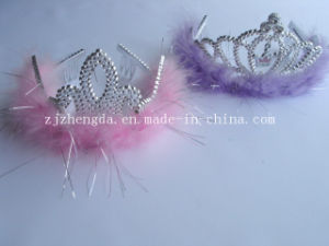 Childrens Feather Plastic Crown Princess Crown for Girls Party Supplies