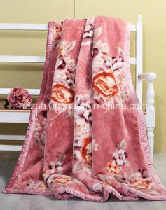 100% Polyester Printed Thick Flannel Blanket with Binding Edge pictures & photos
