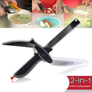 Clever Cutter, 2-in-1 Knife Cutting Board Scissors, Vegetable Cutter pictures & photos