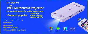Mini Projector Portable WiFi Connection (RS-MMP01)