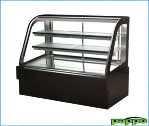 2014 Hot Sale Black Sliding Door Cake Display Refrigerator