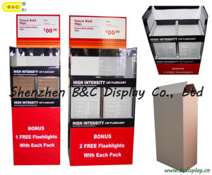 Flashlight Paper Dump Bin / Cardboard Floor Dump Bin Display Rack (B&C-A039) pictures & photos
