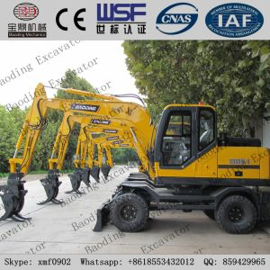 Yellow New Small Crawler Hydraulic Excavator Catching Wood Machine pictures & photos