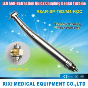LED Anti-Retraction Quick Coupling Dental Turbine