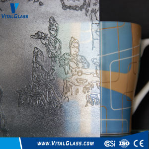 3-6mm Clear Landscap Patterned Glass with CE&ISO9001 pictures & photos