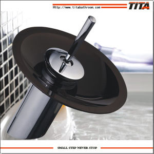2014 Black Round Glass Modern Waterfall Sink Faucet Nh6222-1 pictures & photos