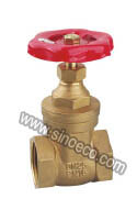 Brass Equal Female Thread Gate Valve with Cast Iron Handle pictures & photos