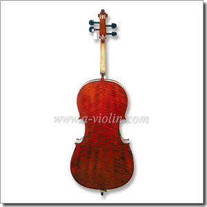 Middle Grade Ebony All Solidwood Flamed Cello (CM140) pictures & photos