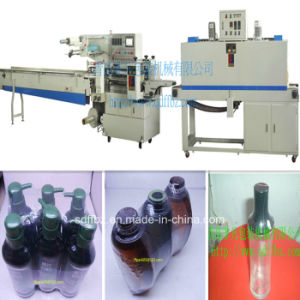 Omron Servo Motor Automatic Shampoo Bottle Flow Shrink Packaging Machine pictures & photos