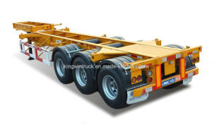 Flatbed Container Semi Trailer 40FT/ Skelete Container Semi Trailer 3 Axles pictures & photos