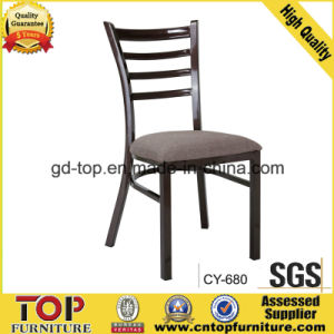 New Design Steel Nice Wood Looking Restaurant Chair pictures & photos