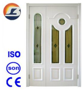 High Quality Mother-Son White Meranti Wooden Door pictures & photos