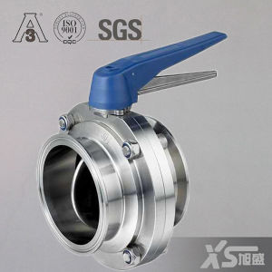 Triclamp Sanitary Ss034 Butterfly Valve with Fiber Handle pictures & photos