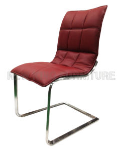 Modern Fashion Chrome Steel Foot PU Leather Dining Chair (NK-DC089)