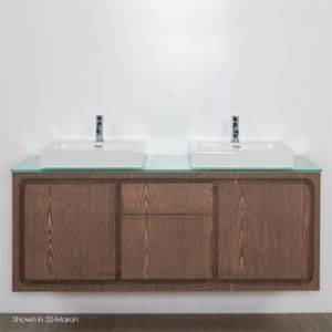 China Wall Mount Undercounter Solid Wood Doube Bathroom