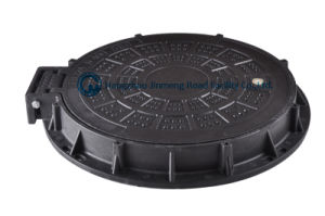 Anti-Theft D400 SMC Composite Manhole Cover with Hinge and Lock pictures & photos