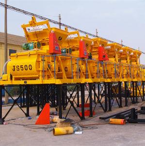 Twin Shaft Concrete Mixer (Js500) Machine pictures & photos