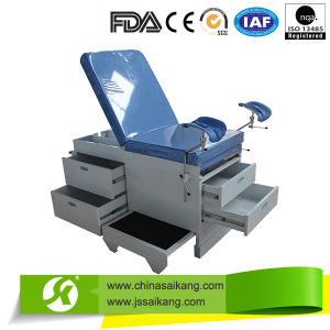 Portable Gynecology Examination Table with Powder Coated Steel Structure (CE/FDA/ISO) pictures & photos
