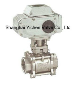 3 PC Thread Electric Ball Valve (Q911) pictures & photos