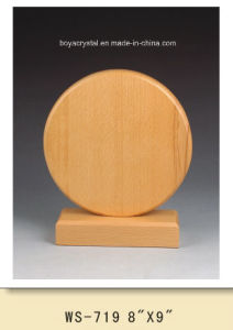 Polished Round Wooden Plaques for Special Promotional Gifts MP-033
