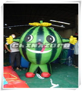 Full Paintings Watermelon Inflatable Movable Cartoon for Sale