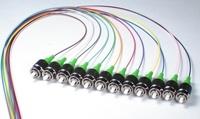 900um FC APC 12 Color Optic Fiber Pigtail (PIGTAIL-FC-APC-SM-0.9)