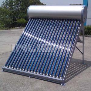Integrated Unpressurized Vacuum Tube Thermo Solar Water Heater pictures & photos