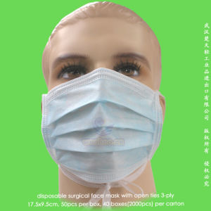 Disposable PP Surgeon Face Mask with Head Ties pictures & photos