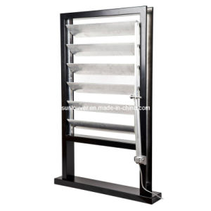 China Motorized Louver Window Operable Aluminium Sun Louver Dx Af150 China Motorized Louver