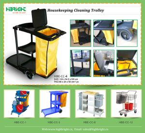 Hotel Housekeeping Cleaning Cart Trolley pictures & photos