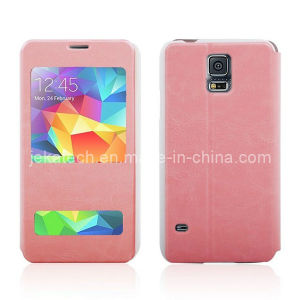 Double Window Leather Case for Samsung Galaxy S5 pictures & photos