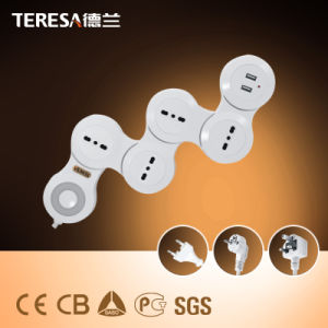 4 Way Manufacturers High Quality Power Extension Socket with USB Ports pictures & photos