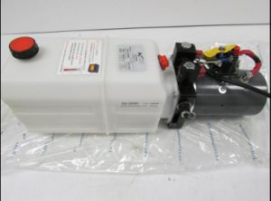 New 12V Double Acting Hydraulic Power Unit 6 Quart for Dump Trailer pictures & photos