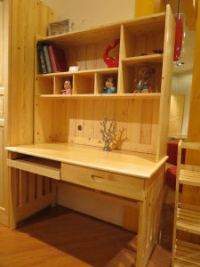 Wooden Study Table with Bookcase Computer Desk (M-X1057) pictures & photos