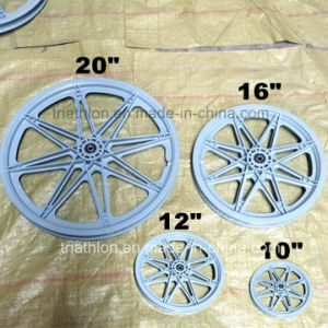 "12"" 16"" 20"" Plastic Bicycle Wheel with Flat Free Tire pictures & photos"