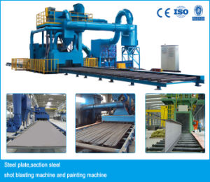 Automatic Steel Plate Shot Blasting Machine pictures & photos