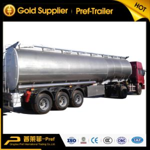 3 Axles 40000L Stainless Steel Fuel Tank Trailer for Sale