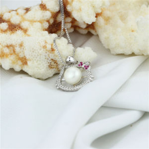 Hello Kitty Cat Shaped Cultured Pearl Pendant pictures & photos