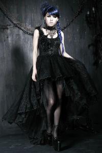 Punk Rave Wholesale Gothic Elegant Party Evening Dress (Q-174) pictures & photos