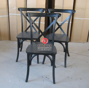 Commerial Dining Chairs Wooden Banquet Cross Back Chairs pictures & photos