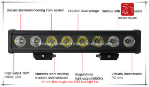 LED Car Light of 15inch 80W Single Row CREE LED Light Bar Waterproof for SUV Car LED off Road Light and LED Driving Light pictures & photos