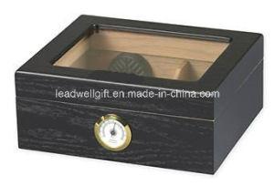 Black Oak 25-50 Cigar Desktop Humidor Glasstop pictures & photos