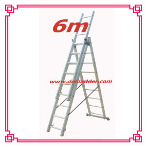 3 Section Extension Ladder 6m pictures & photos