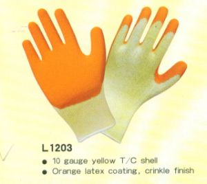 CE Latex Coating Gloves with T/C Shell pictures & photos