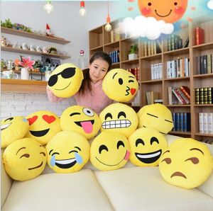 2016 Popular Round Shaped Emoji Pillows pictures & photos