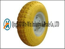 4.00-6 Non-Pneumatic PU Tool Cart Wheel with Spoke Color pictures & photos