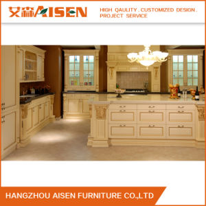 Luxury Oak Wood Kitchen Cabinet From China pictures & photos